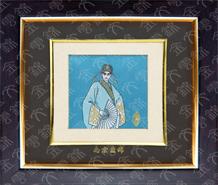 云锦框画-戏男