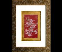 云锦框画-红千禧龙