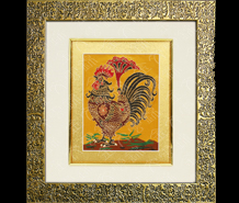 云锦框画-大公鸡