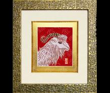 云锦框画-吉羊
